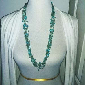 Jewelry - blue-green necklace